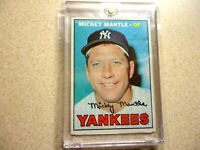 1967 TOPPS  MICKEY MANTLE NEW YORK YANKEES VERY NICE CONDITION #150