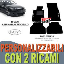 PER BMW SERIE 5 E61 TAPPETI AUTO SU MISURA MOQUETTE FONDO GOMMA + 2 RICAMI EASY
