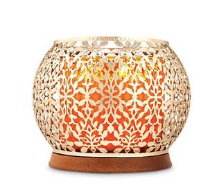 GOLD VINES 14.5oz candle holder sleeve Bath & Body Works White Barn wood base