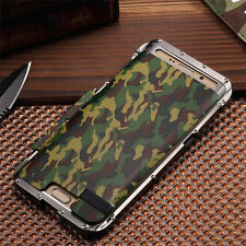 Camouflage Armor Aluminum Metal Stainless Steel Bumper Case For Samsung iPhone