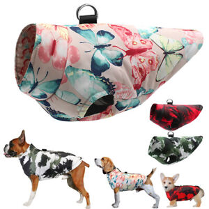 S-6XL Waterproof Dog Coat with Lead Ring Pet Clothes Jacket Beagle Boxer Pitbull