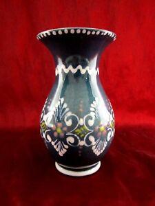 wunderschöne glasierte Vase von Gmünder Keramik Made in Austria Handmalerei