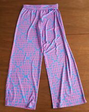 NEW Mud Pie Women's Size S (4-6) Pink & Blue Graphic Print Casual Harlow Pant