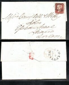 GB Großbritannien Brief mit Michel Nr. 3 Einzelfrankatur mit Inhalt - Falten(482