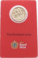 2014-I India Mint Mark Gold Full Sovereign Coin Cert Mint Card Sealed