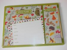 Woodlands magnetic 7 day weekly planner & shopping list with pencil