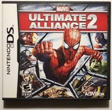 Marvel: Ultimate Alliance 2 (Nintendo DS, 2009) Case & Manual NO GAME