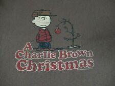 PEANUTS CHARLIE BROWN CHRISTMAS TREE  -BROWN 2XL T-SHIRT-A1294