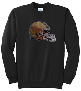 Women's Cleveland Browns Ladies Bling Sweatshirt Woman's S-XL