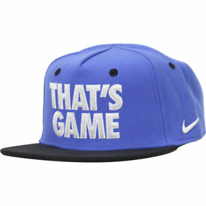 Nike Toddler Boy's Embroidered Comet Blue Snapback Baseball Cap Hat Sz: 2/4T