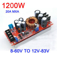 1200W 20A DC Converter Boost Step-up Power Supply Module 8-60V TO 12-83V Great