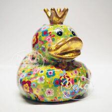 POMME PIDOU - exklusive Spardose - Keramikfigur ENTE BETTY hellgrün / Blumen