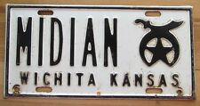 1960's MIDIAN SHRINER'S WICHITA KANSAS BOOSTER License Plate