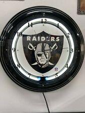Oakland/Las Vegas Raiders Neon Clock