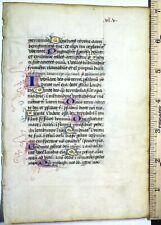 Medieval illuminated liturgical lf.vellum,13Gold initials&adorned Initialsc.1400