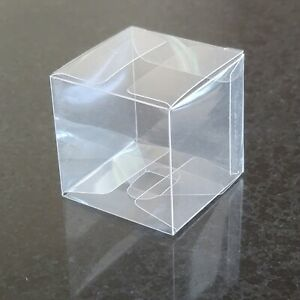 """Square 2""""x2""""x2"""" Clear Cube - Favor Box - Gift Candy Box - Wedding Decor - PET"""