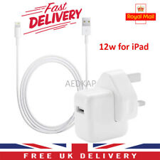 Genuine 12W Mains Wall Charger Plug For Apple iPad 1,2,3, Mini, Air, Pro, iPhone