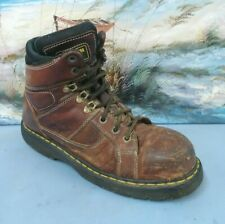 New listing Dr. Martens Air Wair Steel Toe Industrial Boots Brown Leather Us Mens 11 Dm229