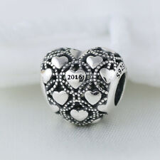 New Authentic PANDORA Silver 2016 DIAMOND HEART CLUB Charm 791921D