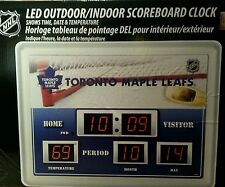 NHL Hockey Toronto Maple Leafs Indoor Outdoor LED Clock Calendar Thermometer