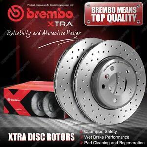 """2x Front Brembo Drilled Disc Brake Rotors for Volvo V60 I 155 157 16"""" Wheel"""