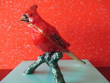 Cardinal ~ Brilliant Beauty ~ Enameled Trinket Box #1697
