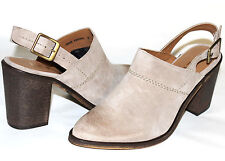 ✿ REPORT Yakima Taupe Suede Leather Slingback Mule Bootie 8 M Romania NEW! L@@K