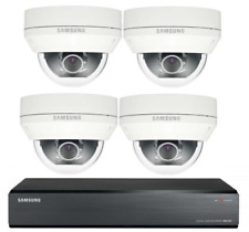 Samsung 4 Channel 500GB CCTV Kit Dome Cameras Security High Resolution Home