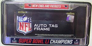New England Patriots 2016 Super Bowl 51 NFL Champion Chrome License Plate Frame