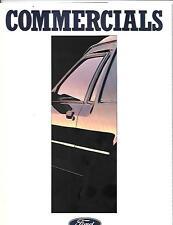 FORD TRANSIT VAN/BUS/CHASSIS CAB,FIESTA/ ESCORT VAN SALE BROCHURE MAY 1988
