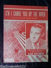 Partitura Original-C'n me canoa a usted por el Río-Sam Browne