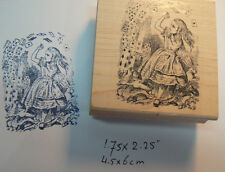 P13 Alice in wonderland playing cards rubber stamp