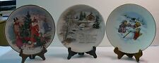 SET OF THREE HOLIDAY COLLECTIBLE  PLATES > AVON and WINTERSCENE SERIES II