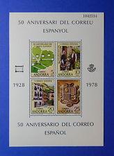 1978 ANDORRA SPANISH SCOTT# 102 MICHEL # Block 1 UNUSED NH              CS25367