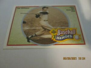 TED WILLIAMS RED SOX 1991 UPPER DECK BASEBALL HEROES 34 OF 36 5000 HOME RUN CLUB