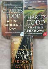 "CHARLES TODD ""INSPECTOR IAN RUTLEDGE"" BOOK LOT (3) ~ HUNTING, PROOF,SUMMER'S DAY"