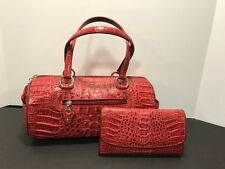 New Nina Raye Authentic Red Crocodile Skin Clutch Purse & Wallet