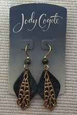 dangles Teal gold filigree Earrings Pierced Jody Coyote 14 kt gold filled wire