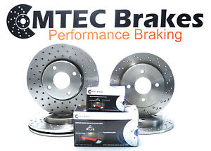Ford Fiesta ST150 MK6 04-09 Performance Front Rear Drilled Brake Discs MTEC Pads