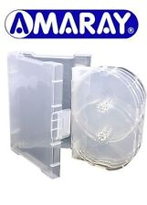 50 x 10 Way Clear Megapack DVD 32mm [10 Discs] New Empty Replacement Amaray Case