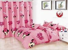 ♛ Shop8 : 5 in 1 MINNIE MOUSE  BED SHEET CURTAIN SET Queen  6j8w5