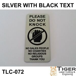 Please Do Not Knock Sign Plaque No Sales People Charities Religious Groups