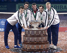 Kyle edmund, andy murray & james ward unsigned photo-G119-davis cup winners