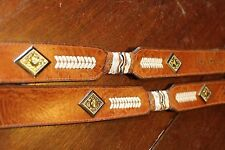 COOL STUDDED HAND LACED LEATHER WESTERN BELT 36