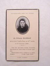 IMAGE d' AVIS MORTUAIRE : Edmée BARBAT, 1936