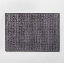 """17""""x24"""" Solid Bath Rug Gray - Made By Design, Flat Gray"""