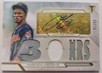 2018 TOPPS TRIPLE THREADS * FRANCISCO LINDOR AUTO /18 GAME USED RELIC * METS!