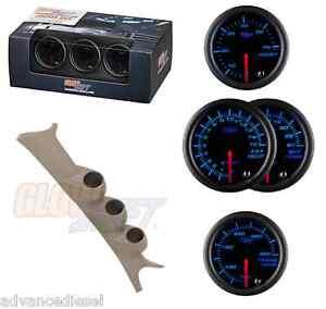 99-07 Ford SuperDuty GS Black 7Color Boost,TransTemp&1500F EGT Gauge Set&Tan Pod