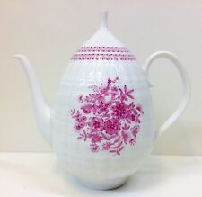"Hutschenreuther ""Pink Bouquet"" Pattern Coffee Pot."