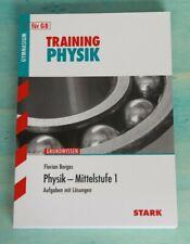 Training Physik , Mittelstufe 1, Aufgaben mit Lösungen, neuwertig